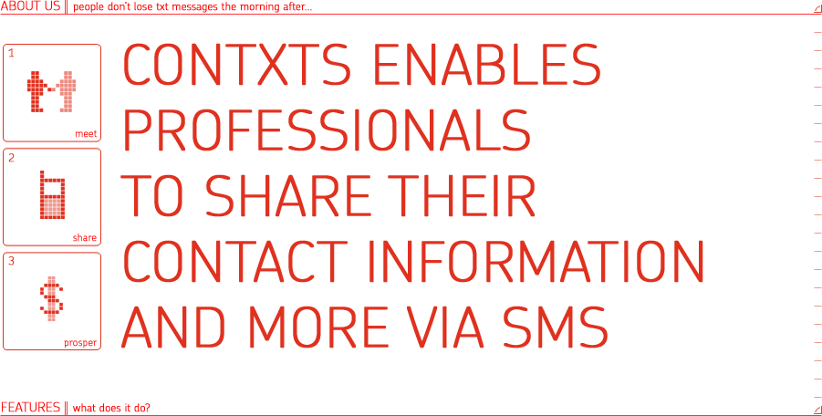 Contxts mobile sms business cards contxts is so much more than a professional social network its a way to make meaningful connections while out and about business cards are so 2007 colourmoves Choice Image
